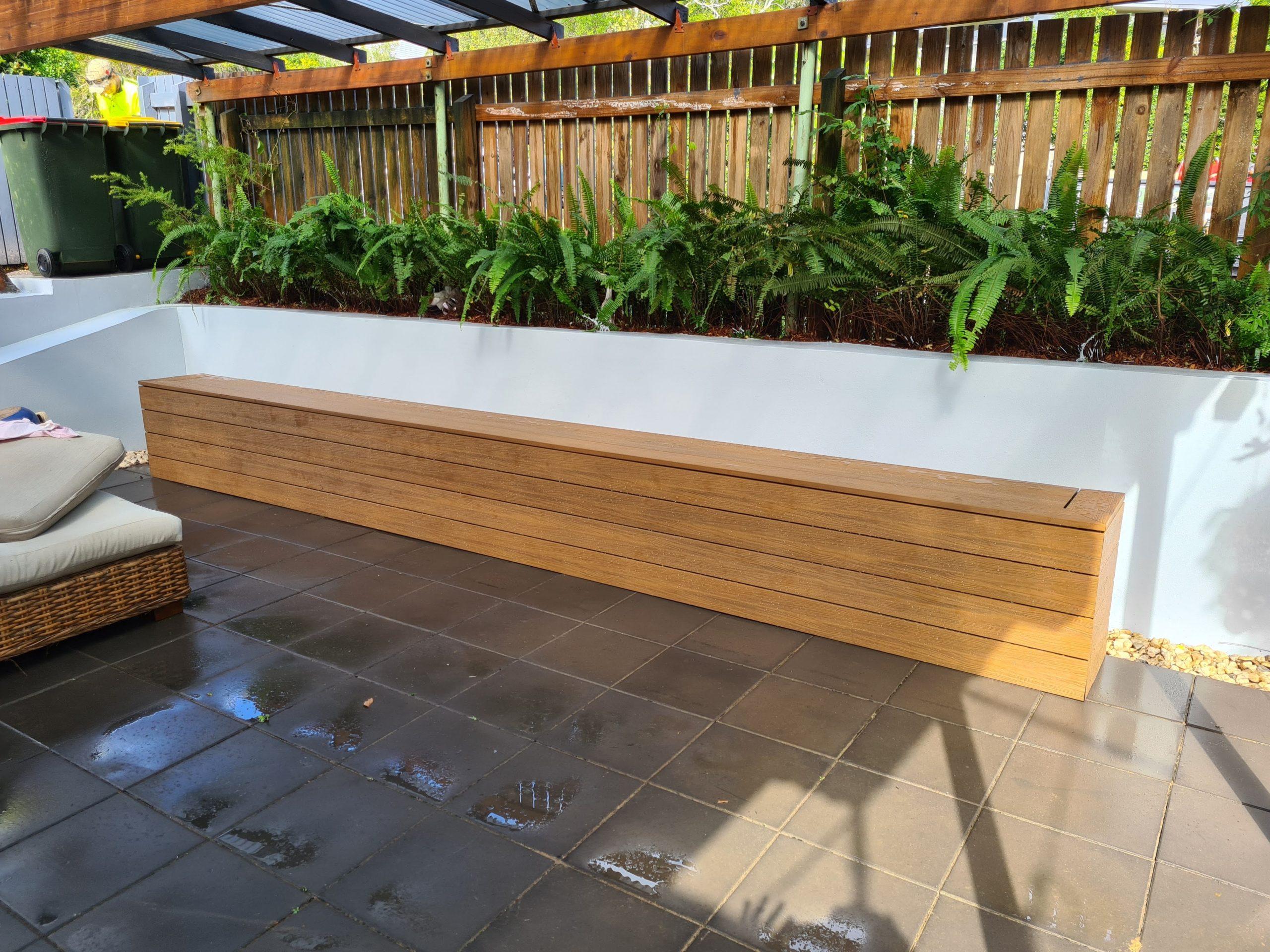 bench seat eko deck leather wood